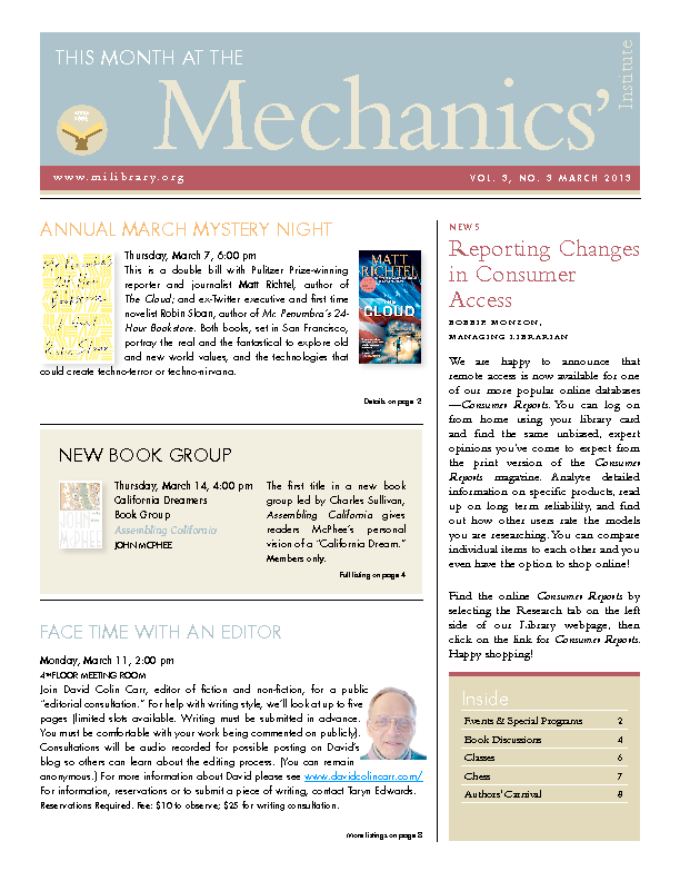 PDF version of theThis Month: March 2013 publication