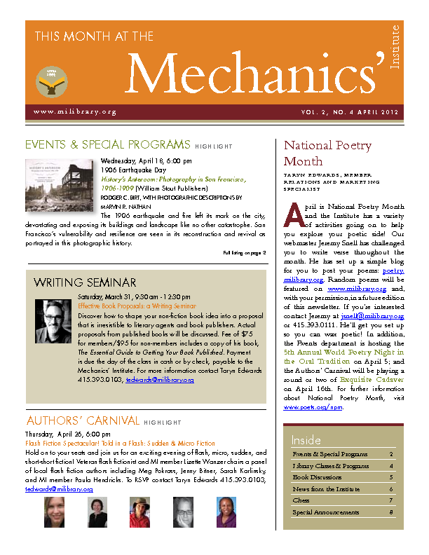 PDF version of theThis Month: April 2012 publication