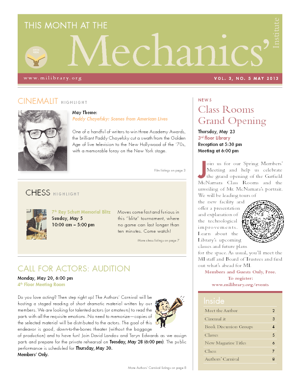 PDF version of theThis Month: May 2013 publication