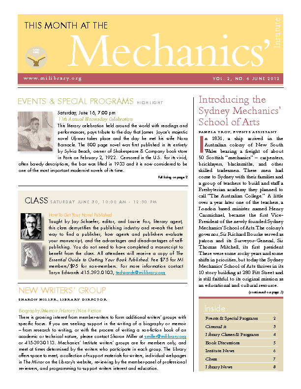 PDF version of theThis Month: June 2012 publication