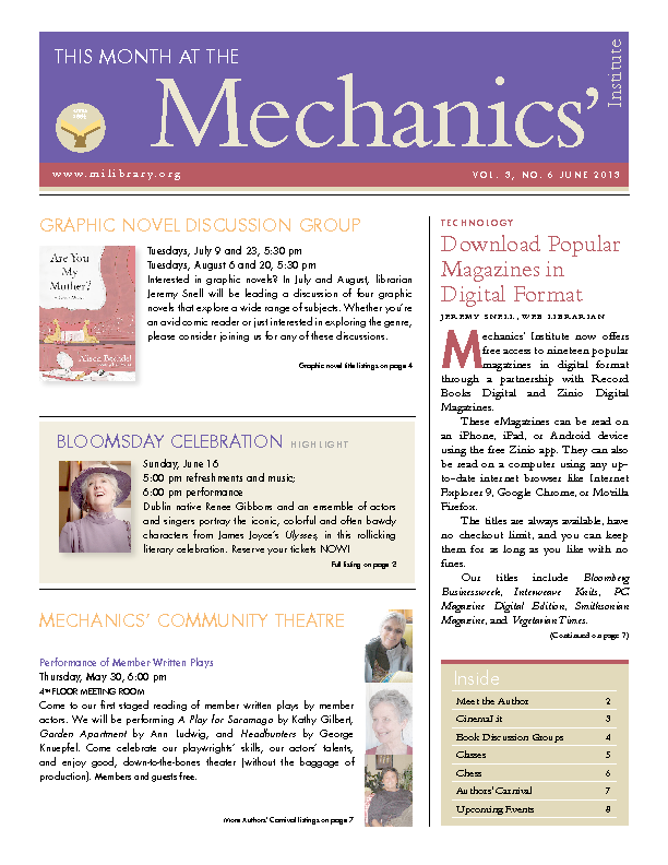 PDF version of theThis Month: June 2013 publication