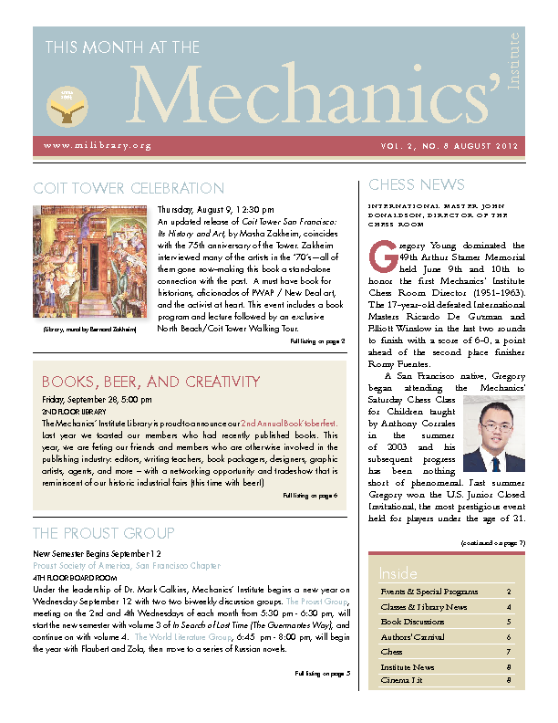 PDF version of theThis Month: August 2012 publication