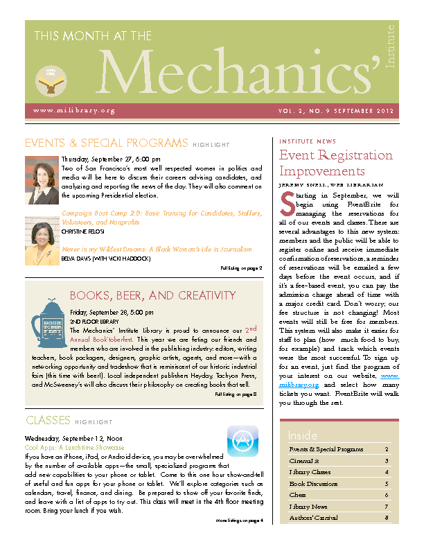 PDF version of theThis Month: September 2012 publication