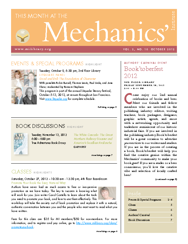 PDF version of theThis Month: October 2012 publication