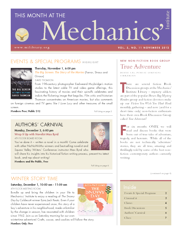PDF version of theThis Month: November 2012 publication
