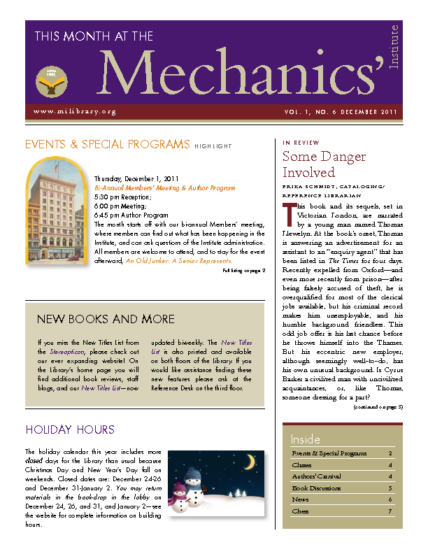 PDF version of theThis Month: December 2011 publication