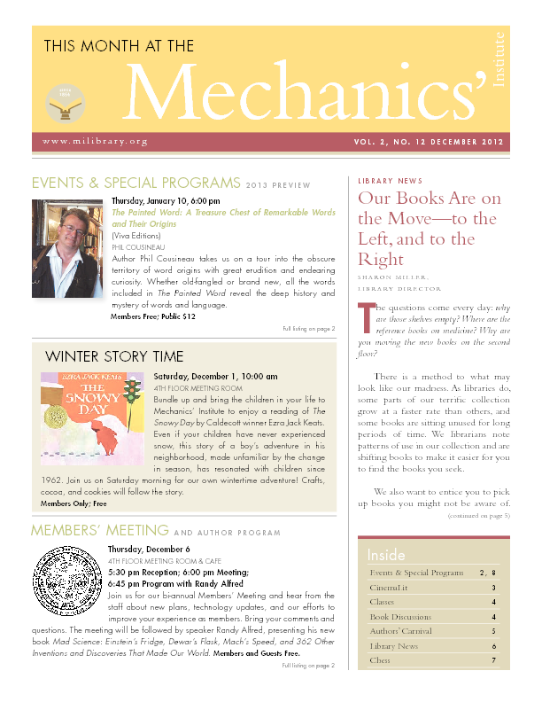 PDF version of theThis Month: December 2012 publication