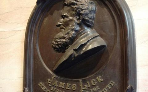 Photograph of the James Lick bust